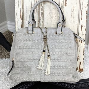 Gorgeous gray satchel with strap